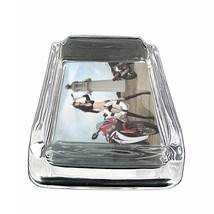 """Sexy Motorcycle Glass Ashtray D7 4""""x3"""" Speed Racing Bike - $9.85"""