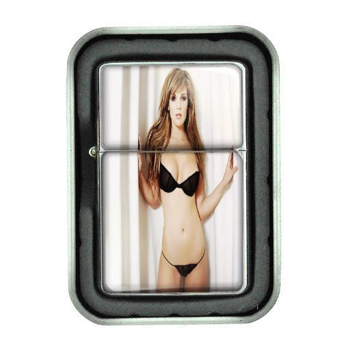 Sexy Women Design 09 Oil Lighter with Gift Box Lingerie Model Hot Babe Chic Cute