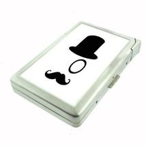Silver Cigarette Case w/ Lighter 2nd Mustache D 04 Hipster Handlebar Facial Hair - $5.89
