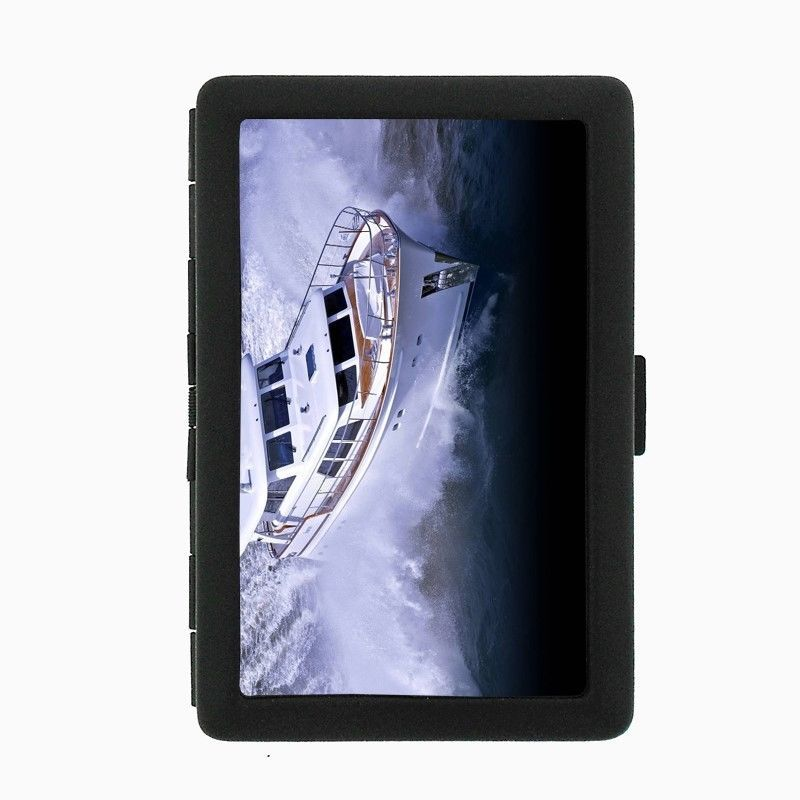 Speed Boat Black Cigarette Case D6 Metal Wallet Ship Motorboat Power boat