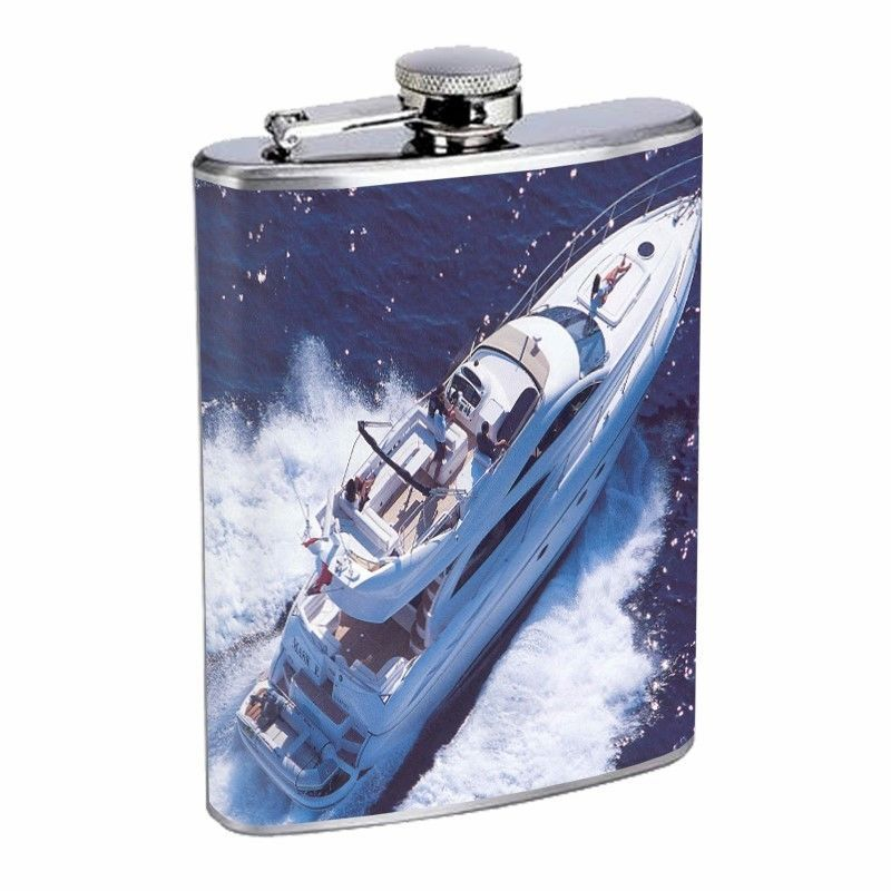 Speed Boat Flask D9 8oz Stainless Steel Ship Motorboat Power boat
