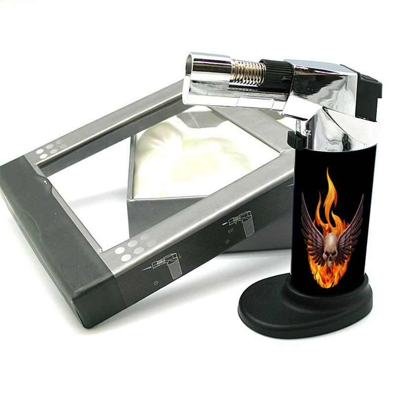 Stylish Designer Butane Jet Torch Lighter Skull Design-006