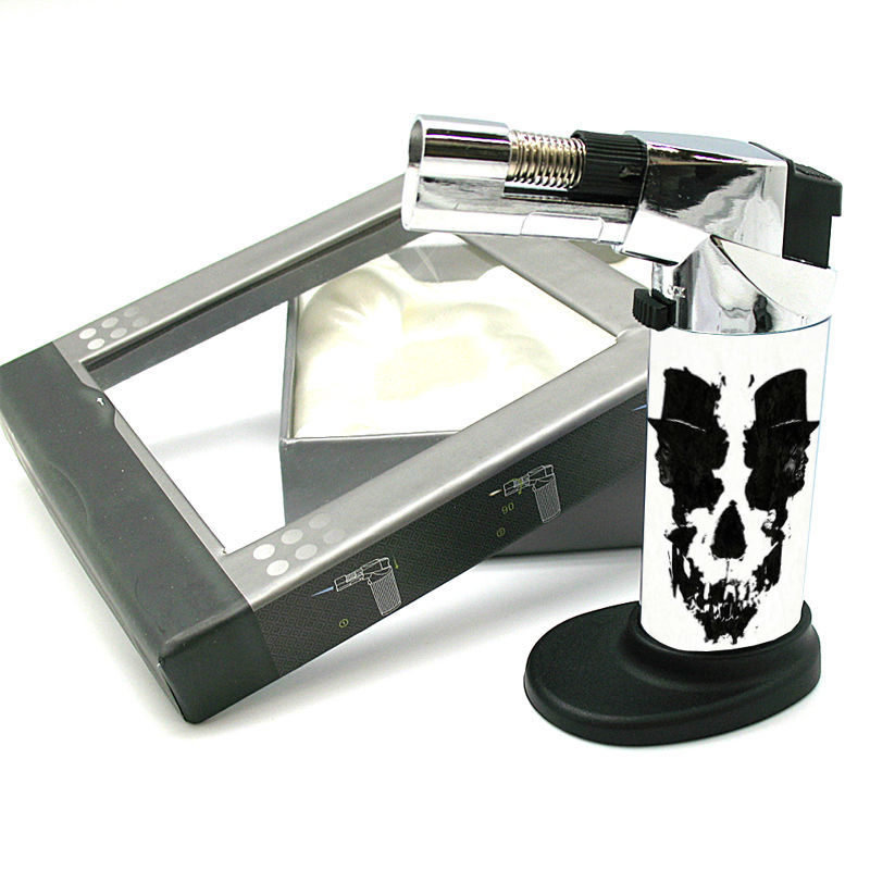 Stylish Designer Butane Jet Torch Lighter Skull Design-074