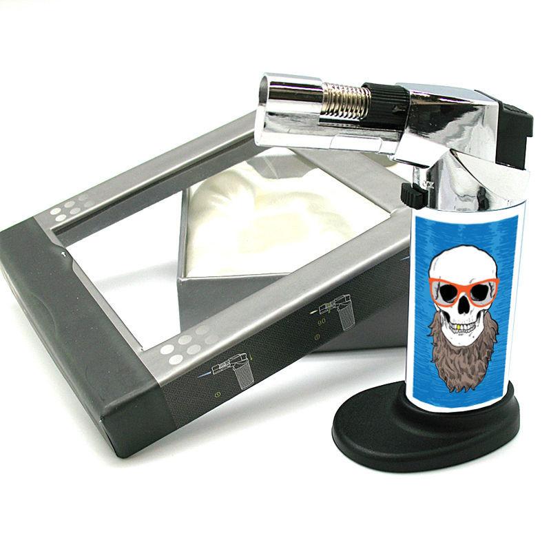 Stylish Designer Butane Jet Torch Lighter Skull Design-088
