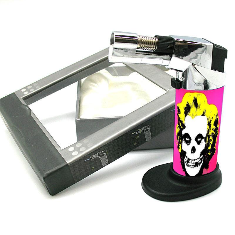 Stylish Designer Butane Jet Torch Lighter Skull Design-089