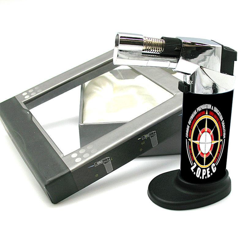 Stylish Designer Butane Jet Torch Lighter Zombie Design-018