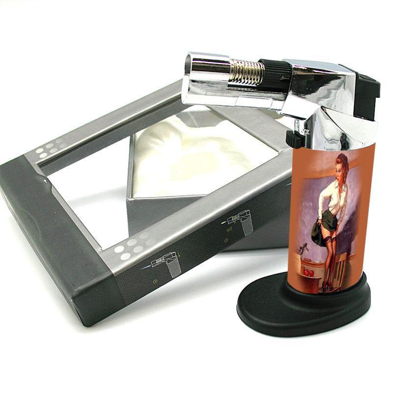 Stylish Designer Butane Jet Torch Professional Grade Pin Up Girl Design-018