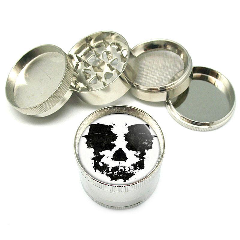 """Stylish Designer Metal Grinder 4PC 2"""" Skull Design-074"""
