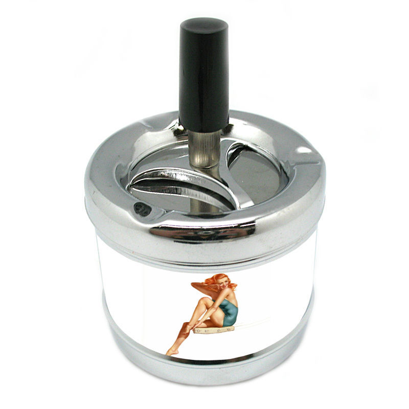 Stylish Designer Spin Ashtray Pin Up Girl Design-026
