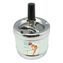 Stylish Designer Spin Ashtray Pin Up Girl Design-073 - $9.89