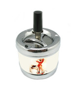 Stylish Designer Spin Ashtray Pin Up Girl Design-109 - $9.89