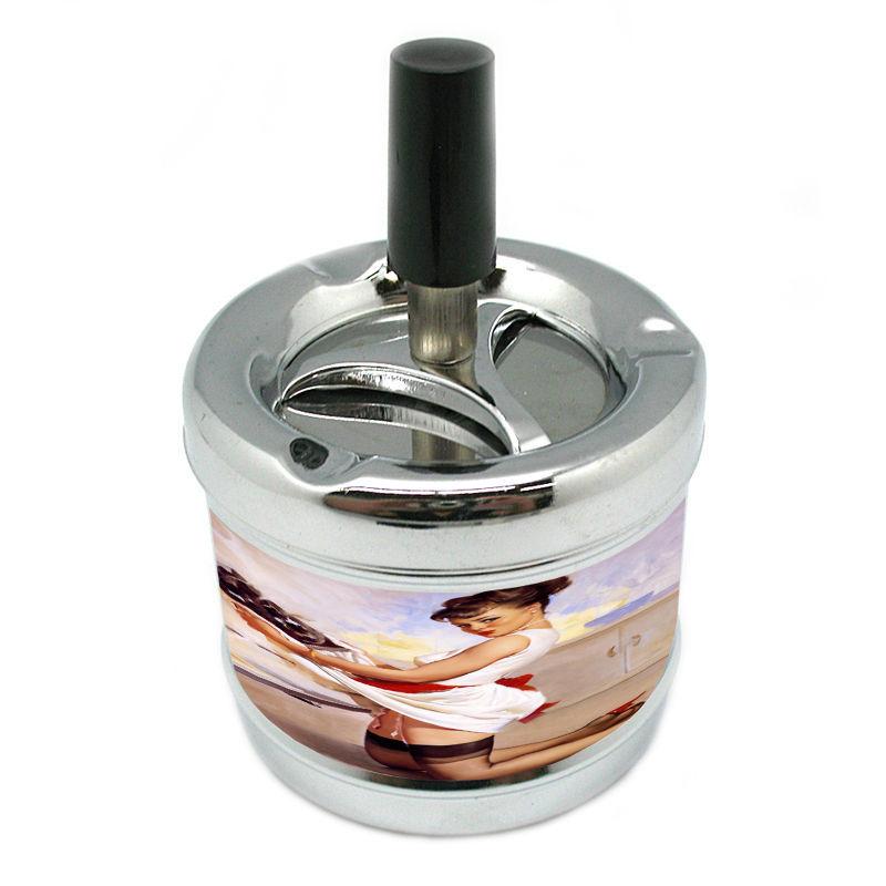 Stylish Designer Spin Ashtray Pin Up Girl Design-131