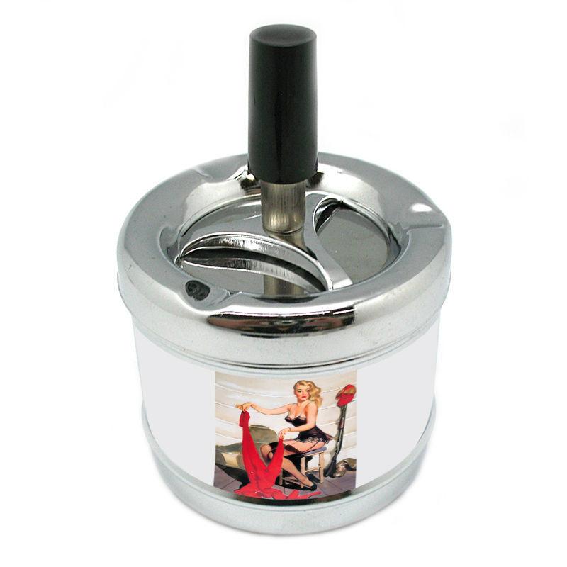 Stylish Designer Spin Ashtray Pin Up Girl Design-172