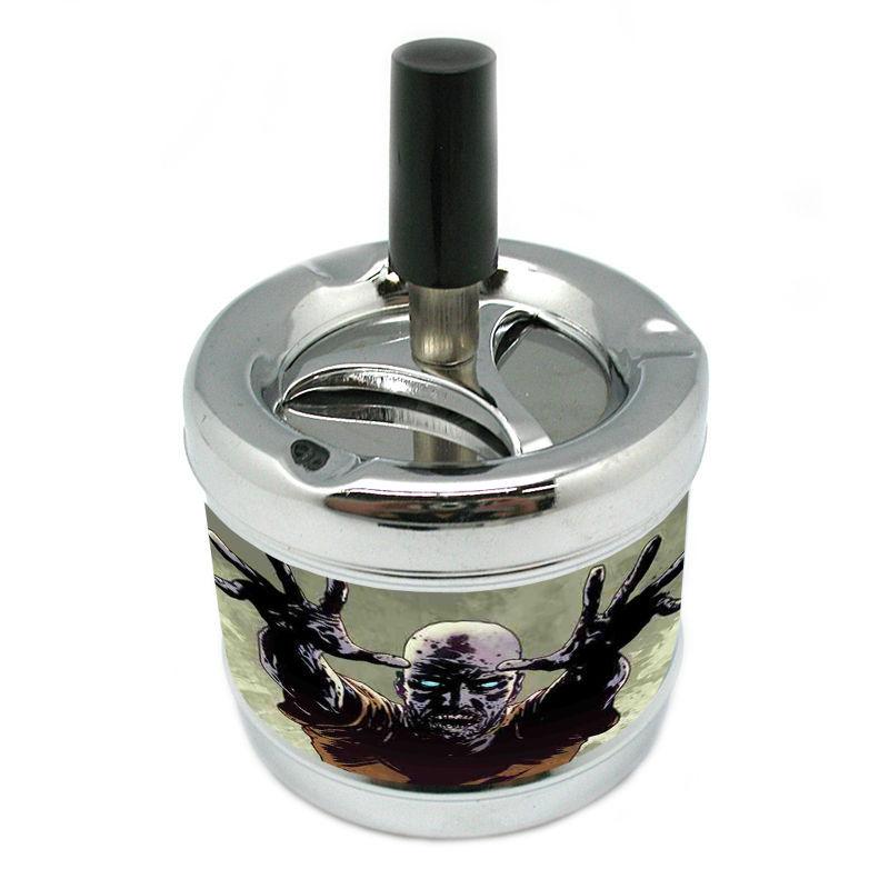 Stylish Designer Spin Ashtray Zombie Design-022