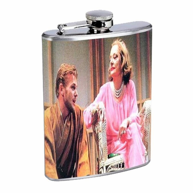 Tab Hunter, Tallulah Bankhead D482 Flask 8oz Stainless Steel
