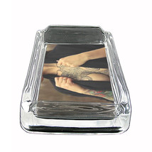 "Tattoo Glass Ashtray D4 4""x3"" Skin Body Art Ink Tat - $7.88"