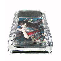 "Tattoo Glass Ashtray D7 4""x3"" Skin Body Art Ink Tat - $7.88"