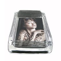 """Tattoo Glass Ashtray D6 4""""x3"""" Skin Body Art Ink Tat - $7.88"""