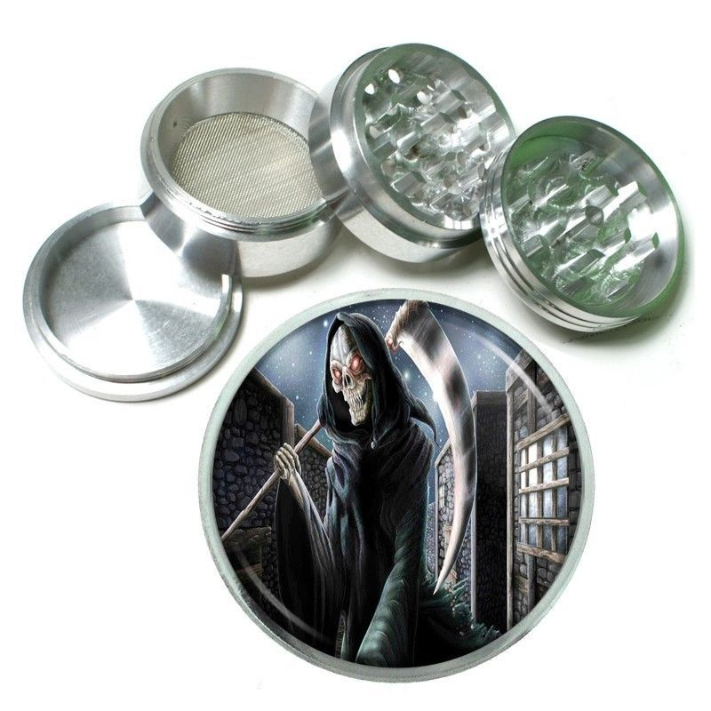 The Reaper Aluminum Grinder D5 63mm 4 Piece Scary Horror Death Frightening