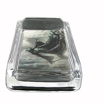 """The Reaper Glass Ashtray D4 4""""x3"""" Scary Horror Death Frightening - $9.85"""