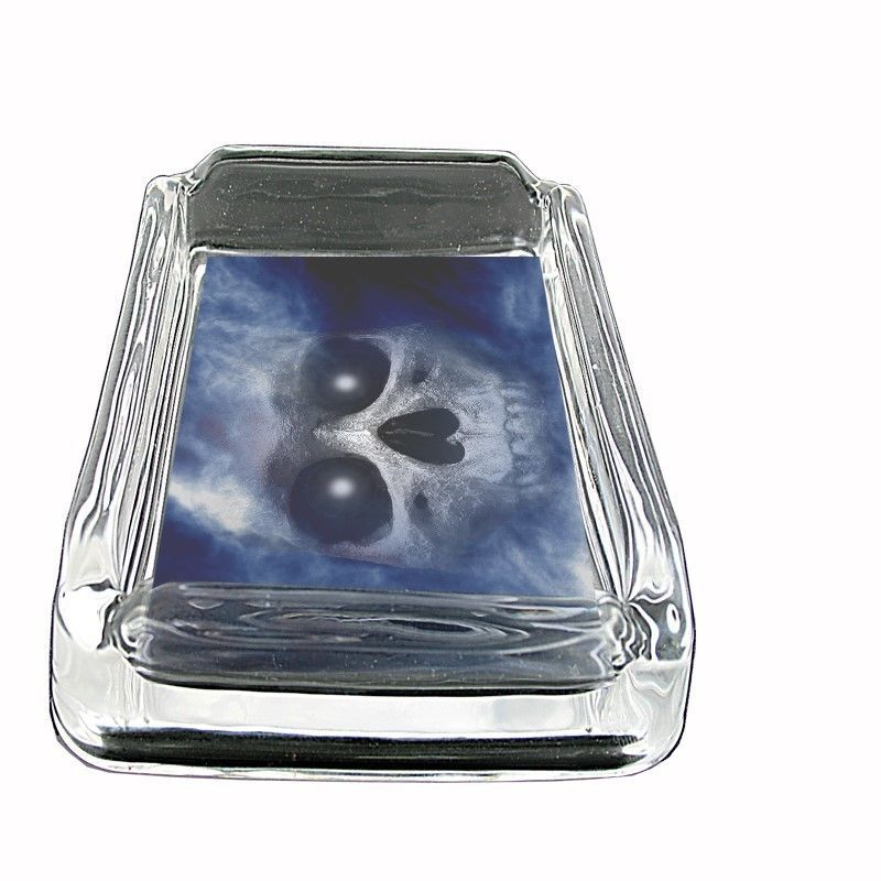 """The Reaper Glass Ashtray D3 4""""x3"""" Scary Horror Death Frightening"""