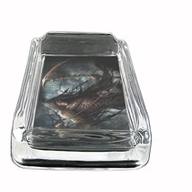 """The Reaper Glass Ashtray D7 4""""x3"""" Scary Horror Death Frightening - $9.85"""