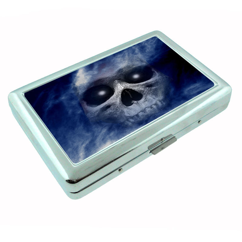 The Reaper Metal Silver Cigarette Case D3 Scary Horror Death Frightening