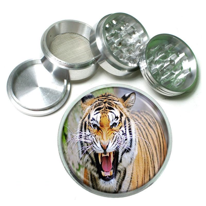 Tiger Aluminum Grinder D3 63mm 4 Piece Wildlife Zoo Bengal Cat Wild Animal