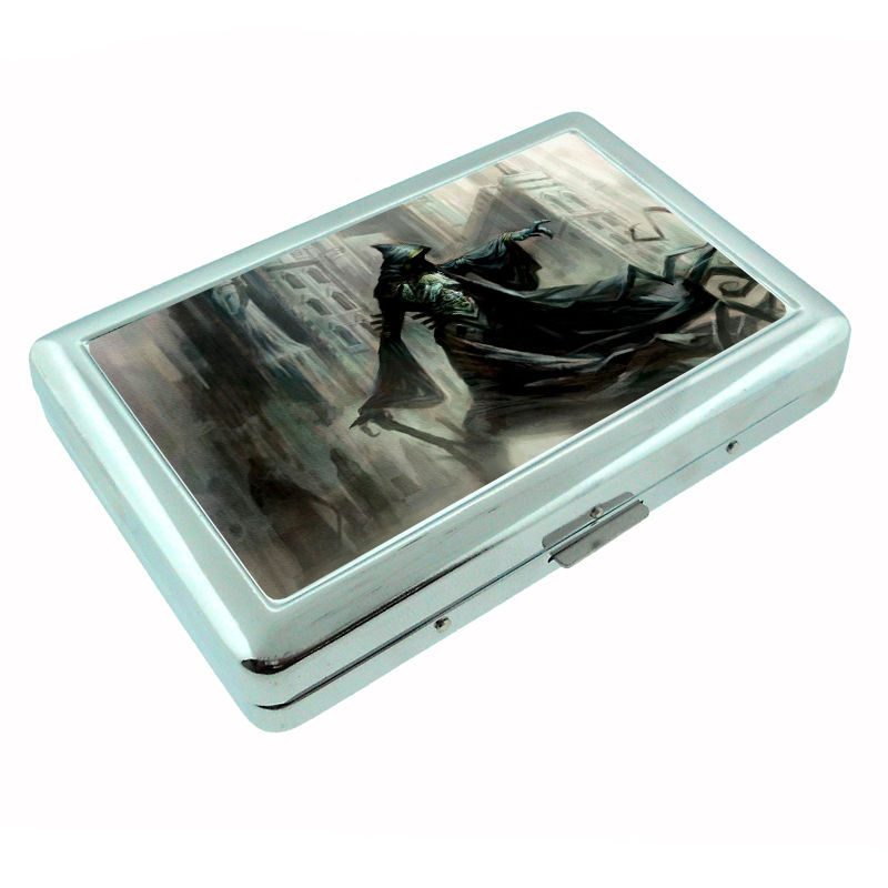 The Reaper Metal Silver Cigarette Case D4 Scary Horror Death Frightening