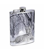 Tiger Flask D2 8oz Stainless Steel Wildlife Zoo Bengal Cat Wild Animal - $9.85