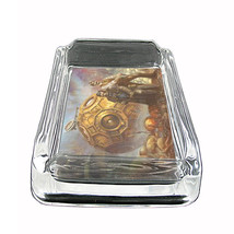 "Tiime Travel Glass Ashtray D9 4""x3"" Time Machine Quantum Space - $14.95"