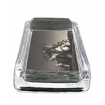 "Tiime Travel Glass Ashtray D10 4""x3"" Time Machine Quantum Space - $14.95"