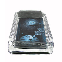 "Tiime Travel Glass Ashtray D6 4""x3"" Time Machine Quantum Space - $14.95"