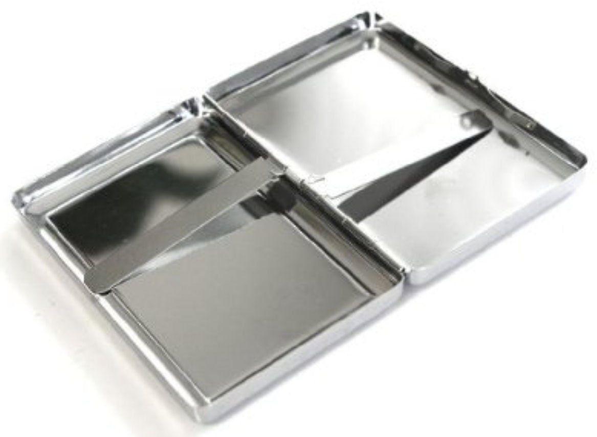 Time Travel D6 Silver Cigarette Case / Metal Wallet Time Machine Quantum Space
