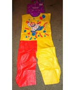 VINTAGE HOLLOWEEN CLOWN COSTUME HALLOWEEN COSTUME CHILD SIZE MEDIUM 7-8 ... - $14.80