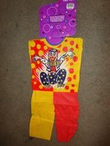 VINTAGE HOLLOWEEN CLOWN COSTUME HALLOWEEN COSTUME CHILD SIZE X-SMALL  3-... - $9.85
