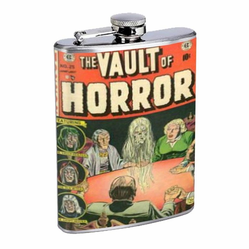 Vault Of Horror Book Seance D486 Flask 8oz Stainless Steel