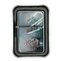 Windproof Oil Lighter Gift Box Navy D 01 U.S. Marine Corps Seals Special Forces - $5.89