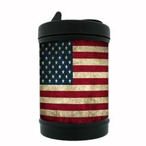 Vintage American Flag Black Metal Car Ashtray D1 United States of America - $5.89
