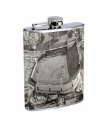 Vintage Baseball Stadium D1 8oz Hip Flask Stainless Steel Retro Legendary - $12.82