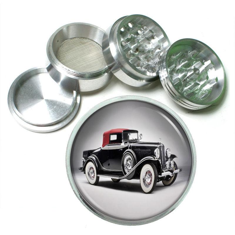 Vintage Car Aluminum Grinder 63mm 4 Piece Old Antique Automobile Classic D2