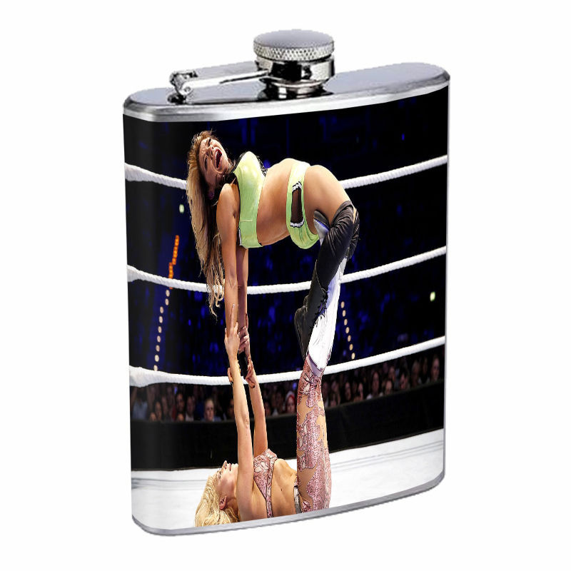 Vintage Girl Fights D9 8oz Hip Flask Stainless Steel Retro Classic