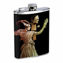 Vintage Monsters D9 8oz Hip Flask Stainless Steel Creepy Scary Creatures - $12.82