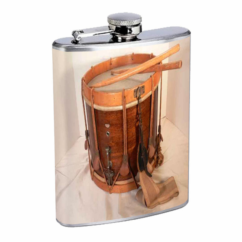 Vintage Musical Instruments D11 8oz Hip Flask Stainless Steel Musician Music