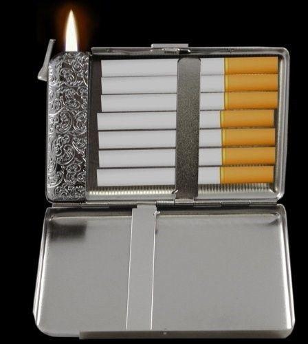 Vintage Navy Sailor Petty Officer Girl D 73 Cigarette Case Built in Lighter
