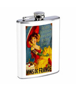 Vintage Wine Ads Hip Flask D20 8oz Stainless Steel Old Fashioned Retro - $10.26
