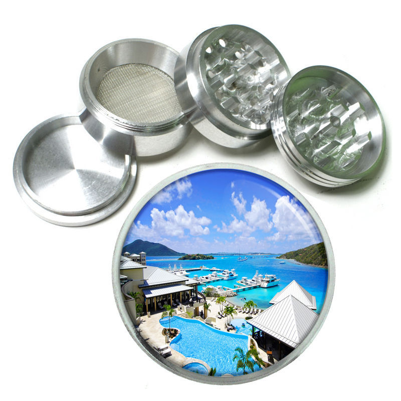 Virgin Islands Aluminum Grinder D5 63mm 4 Piece Ocean Beaches Vacation Sand
