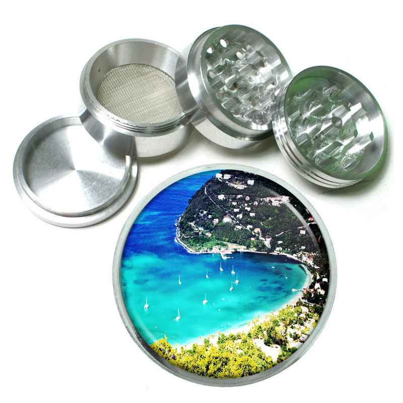 Virgin Islands Aluminum Grinder D6 63mm 4 Piece Ocean Beaches Vacation Sand