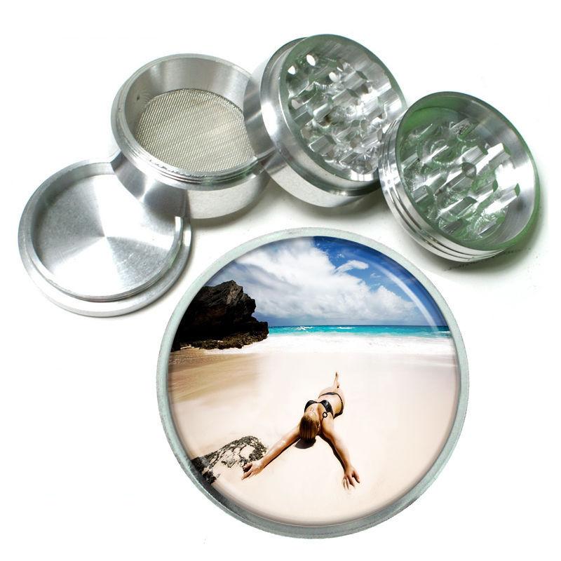 Virgin Islands Aluminum Grinder D8 63mm 4 Piece Ocean Beaches Vacation Sand