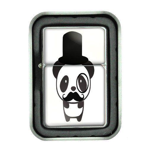 Windproof Oil Lighter & Gift Box 2nd Mustache Design 02 Hipster Handlebar